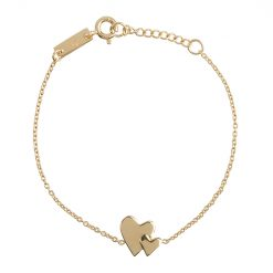 Bracelet fille - Our hearts beat as one plaqué or