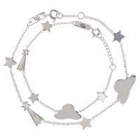 Mutter und Tochter Armband Geschenkset Stargazer Silber