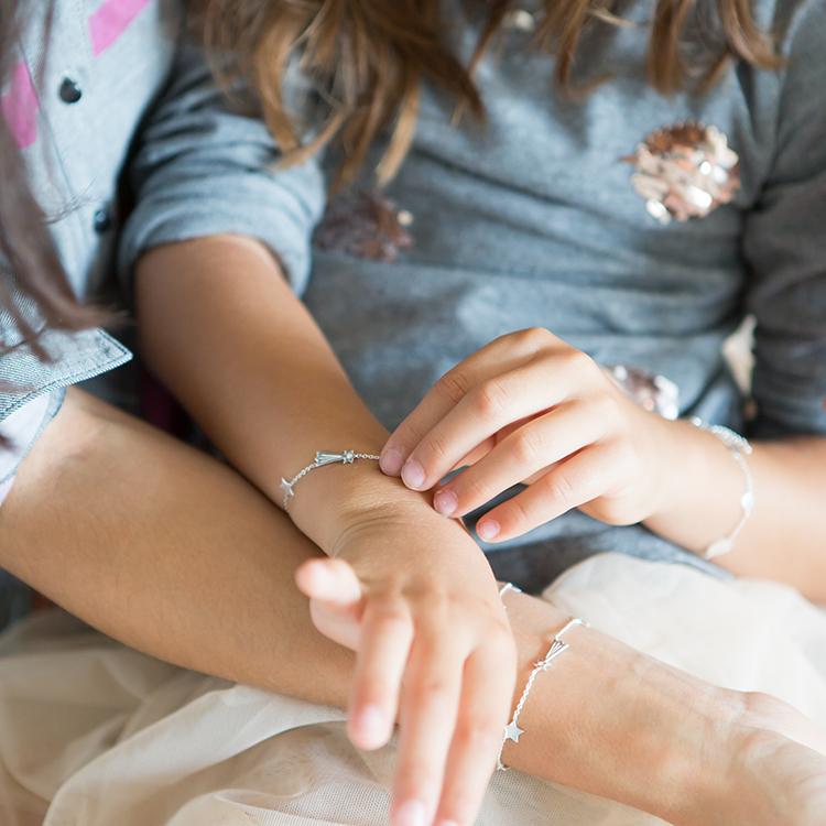 Mutter und Tochter Armband Geschenkset Stargazer