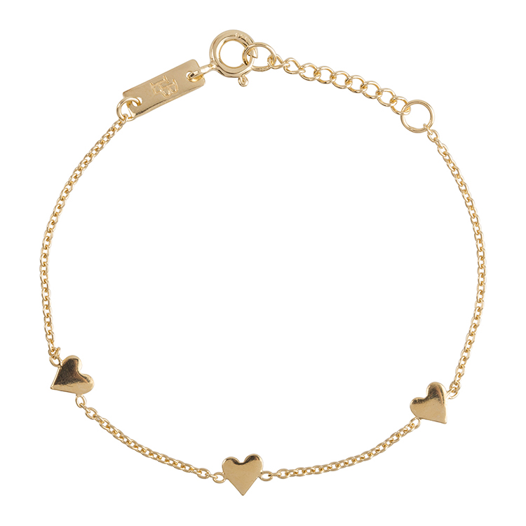 Bracelet fille - You are loved plaqué or