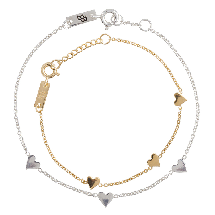 Mère et fille bracelet coffret cadeau - You are loved argent or