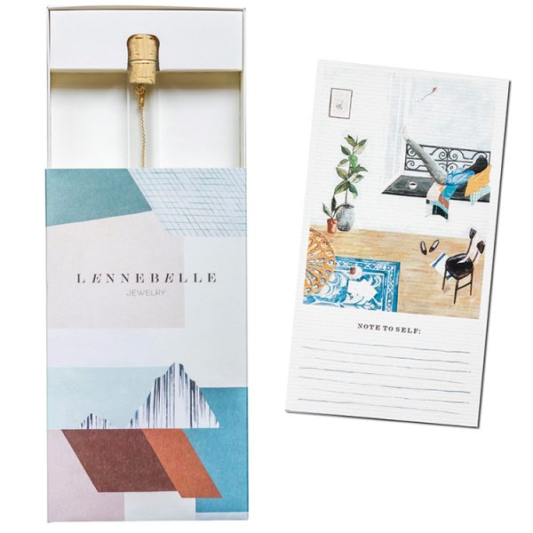 Take 5 packaging Lennebelle illustration by Saar Manch