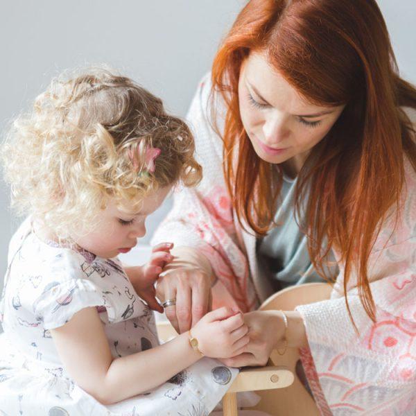 Initials Mutter & Tochter Armbänder Geschenk-Set