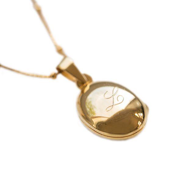 medaillon ketting goud