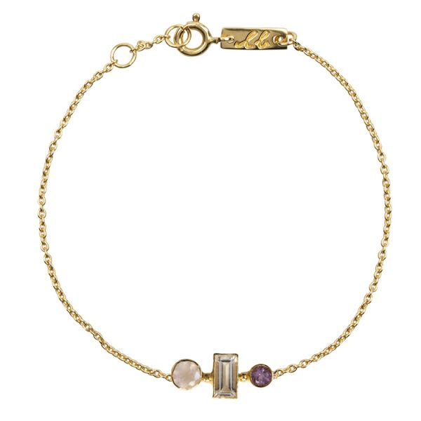 Love and harmony bracelet gold plated