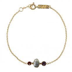 Clear mind mother bracelet gold plated