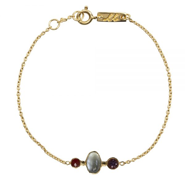 Clear mind mother bracelet gold plated