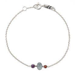 Clear mind mother bracelet silver