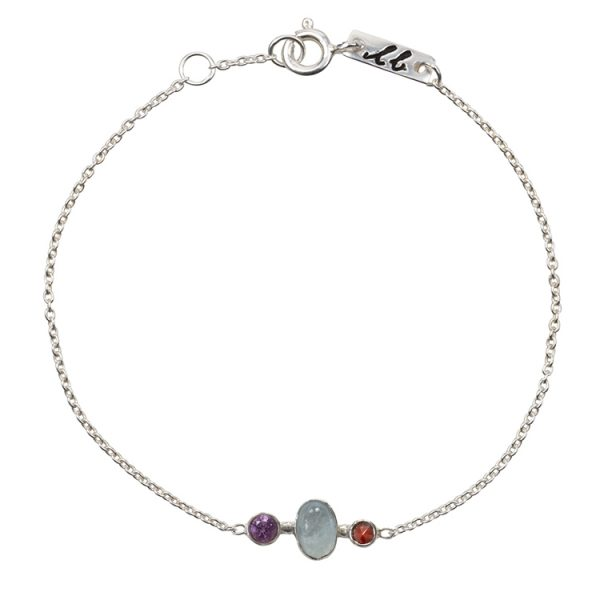 Clear mind mother bracelet silver