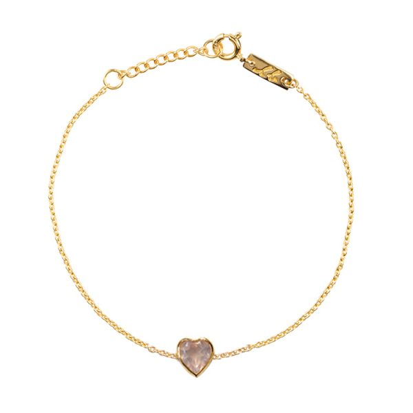 Pure love daughter bracelet gold plated