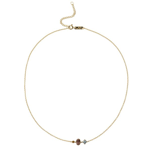 Aqaumarine mother necklace patience
