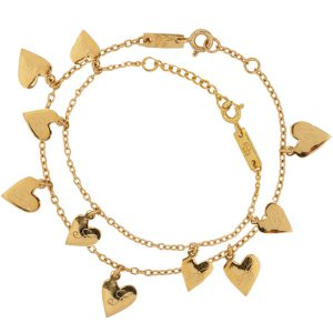 heart charm bracelet mother child