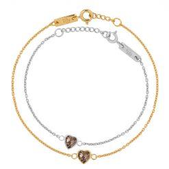 Smokey quartz mother daughter bracelets