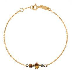 Gratitude bracelet gold plated